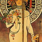 'La Trappistine' by Alphonse Mucha (Reproduction) by Roz Abellera Art