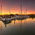Hope Island Marina - Gold Coast Qld Australia by Beth  Wode