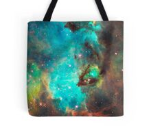 Green Galaxy Tote Bag