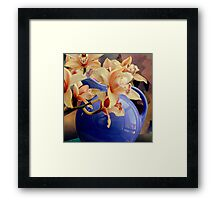 Blue Ball Pitcher Pitched Framed Print