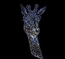 Blue Space Giraffe by rapplatt