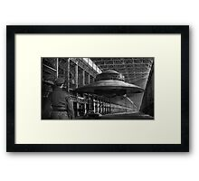 German flying saucer WW2 Framed Print