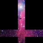 Purple Galaxy Inverted Cross by rapplatt