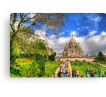 Sacre Couer with greenery .. HDR Canvas Print