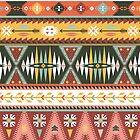 Illustration in native american style with arrows by tomuato