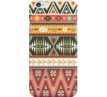 Illustration in native american style with arrows iPhone Case/Skin