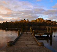 Sunset at Wentworth Falls Lake by CarleyBeth