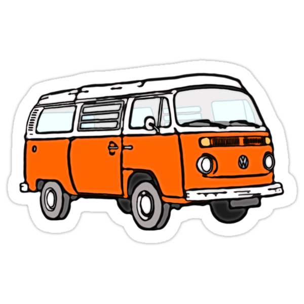 Bay Window Campervan Orange by Ra12