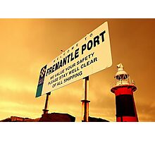 Welcome To Fremantle Photographic Print