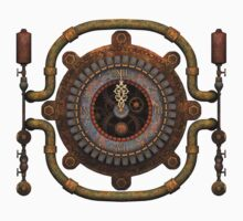 Steampunk Clock T-shirts and Stickers by Steve Crompton