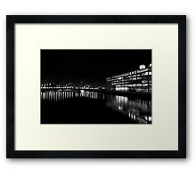 The Clyde at Night Framed Print