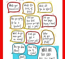 Things people say to PhD students by twisteddoodles