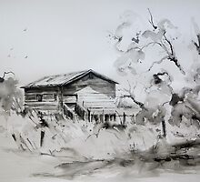 Old Shearing Shed, Forbes, NSW by Sampa Bhakta