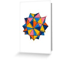 Abstract geometric polygonal crystal Greeting Card