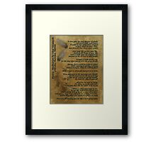 """Live Your Life""  on old parchment, Chief Tecumseh Framed Print"