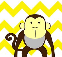 Monkey Baby Room - Yellow - Gray by hypetees
