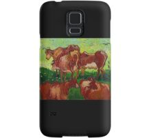 'Les Vaches' by Vincent Van Gogh (Reproduction) Samsung Galaxy Case/Skin