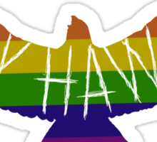 Gay Hawks rainbow Sticker
