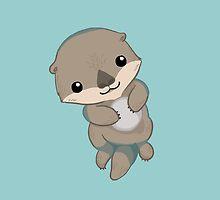 Cute Otter Pup by Veronica Guzzardi