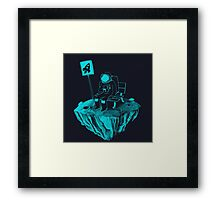 Waiting for my rocket bus Framed Print