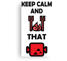 Keep Calm and BBQ that Meat Canvas Print