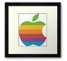 Classic Apple Computer Logo Framed Print
