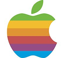 Classic Apple Computer Logo Photographic Print