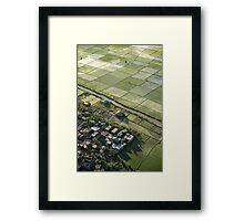 Denpasar Ricefields  Framed Print