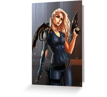Sci-Fi Game of Thrones - Daenerys Targaryen Greeting Card