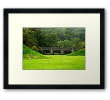 Green haven Framed Print