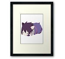 Chibi Sasuke Kitty Framed Print