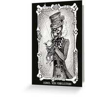 Dead kitty (black and white) Greeting Card