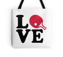 Ping Pong table tennis love Tote Bag