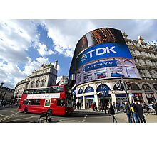 Piccadilly Circus in London Photographic Print