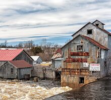 The Old Mill and the raging river by PhotosByHealy
