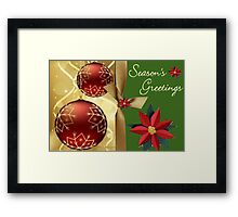 Season Greetings (12248  VIEWS) Framed Print