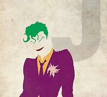 The Joker - Superhero Minimalist Alphabet by justicedefender