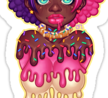 Dripping Donut Girl Sticker