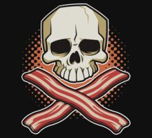 Skull and Cross Bacon T-Shirt
