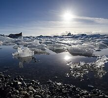 Melting ice in Jokulsarlon glacier lagoon, Iceland by avresa