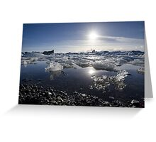 Melting ice in Jokulsarlon glacier lagoon, Iceland Greeting Card