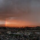 Wellington Skyscape (Rainbow, Evening light) by jezkemp