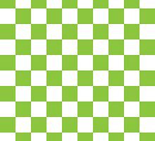 Green Checkerboard by BuzzEdition