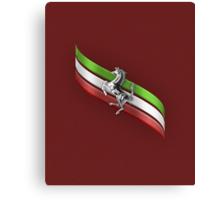 Ferrari Lover #2 [Silver - Red] Canvas Print