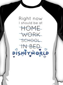 Right Now, I should be at DISNEY WORLD T-Shirt