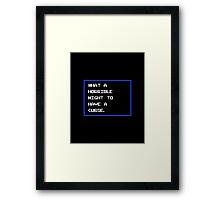 Cursed Night Framed Print
