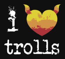I Heart Trolls - Candycorn Heart by heavyhebi