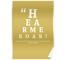 House Lannister, Eye Chart Poster