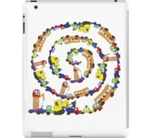 Child's hand draw cars.Funny Doodle spiral composition iPad Case/Skin
