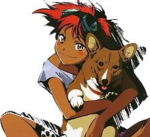 Edward and Ein Cowboy Bebop by v3ana